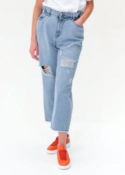 Широкие джинсы Twin-Set с эффектом потертости, фото