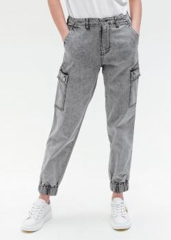 Джинсы-карго Twin-Set серого цвета, фото