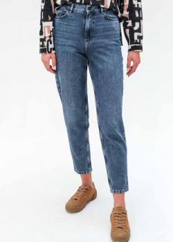 Голубые джинсы Twin-Set Actitude с высокой посадкой, фото