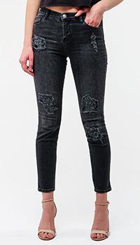 Зауженные джинсы Twin-Set с потертостями, фото