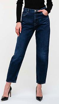 Укороченные джинсы Twin-Set синего цвета, фото