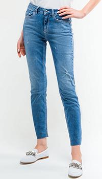 Зауженные джинсы Liu Jo с лампасами, фото
