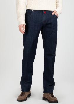 Синие джинсы Kiton с контрастными деталями, фото