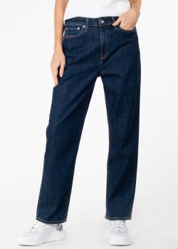 Прямые джинсы Rag & Bone темно-синего цвета, фото