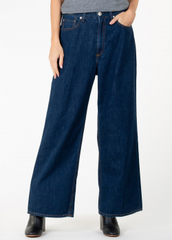 Широкие джинсы Rag & Bone темно-синего цвета, фото