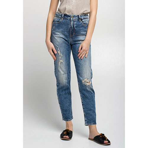 Рваные джинсы Guess с высокой талией, фото