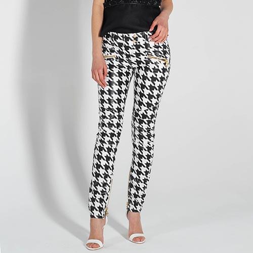 99cb452687a ☆ Зауженные черно-белые джинсы Balmain купить в Киеве