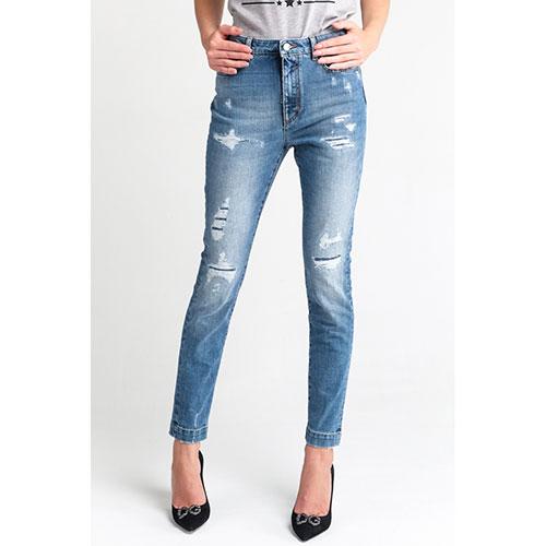 Голубые джинсы Dolce&Gabbana с потертостями, фото
