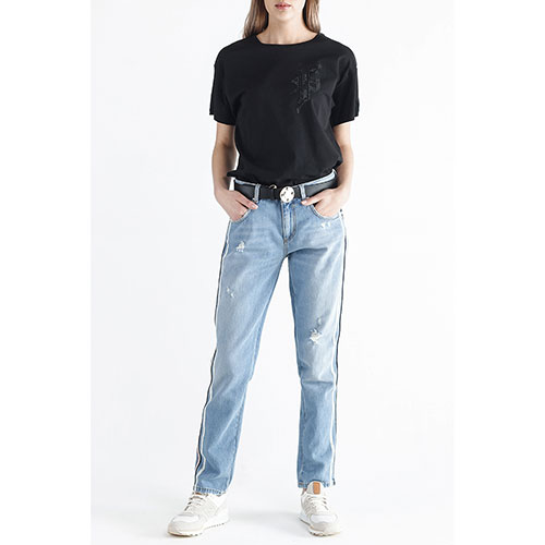 Прямые джинсы Ermanno Scervino с лампасами, фото