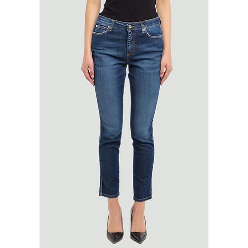 Синие джинсы Ermanno Ermanno Scervino укороченные, фото
