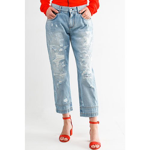 Укороченные джинсы Dolce&Gabbana прямого кроя, фото