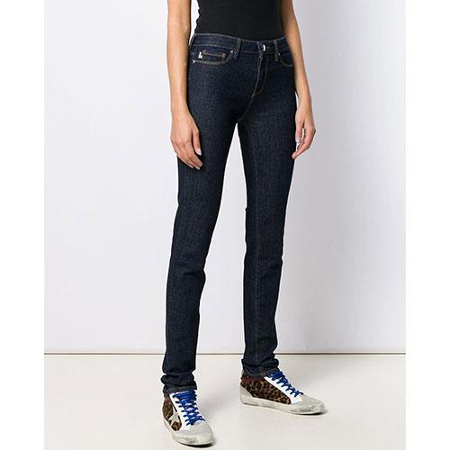 Синие джинсы Love Moschino с металлическим декором, фото