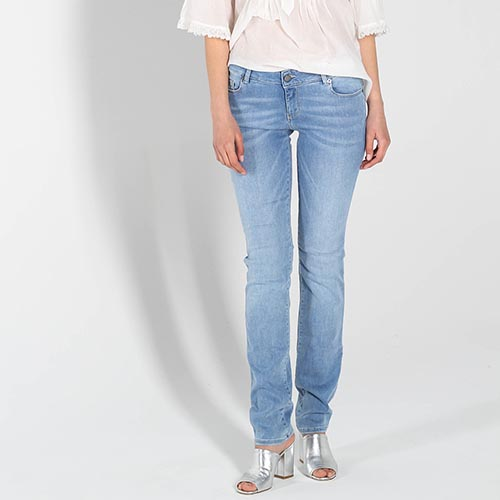 Узкие джинсы Love Moschino голубого цвета, фото