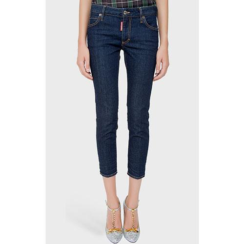 Зауженные джинсы Dsquared2 синего цвета, фото