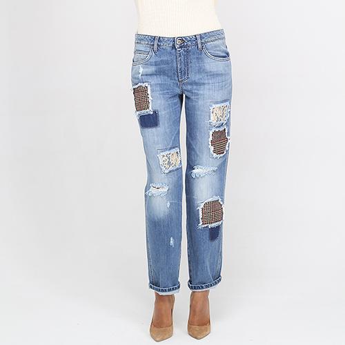 Голубые джинсы-бойфренды Ermanno Ermanno Scervino, фото