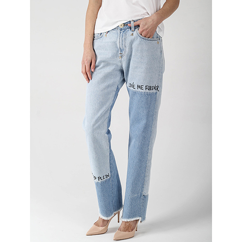 Прямые джинсы Philipp Plein с бахромой, фото
