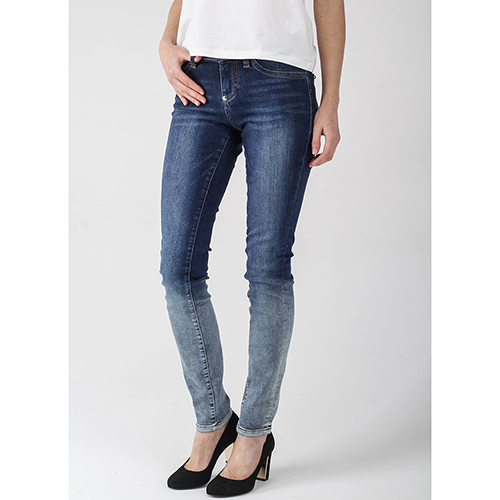 Узкие джинсы Philipp Plein с флористической вышивкой, фото
