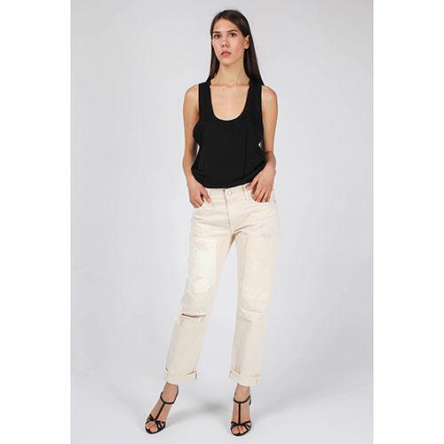 Белые рваные джинсы Polo Ralph Lauren прямого кроя, фото