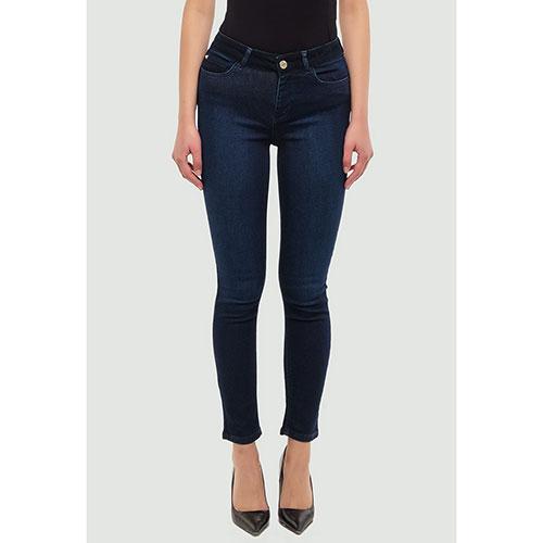 Зауженные джинсы Twin-Set синего цвета, фото