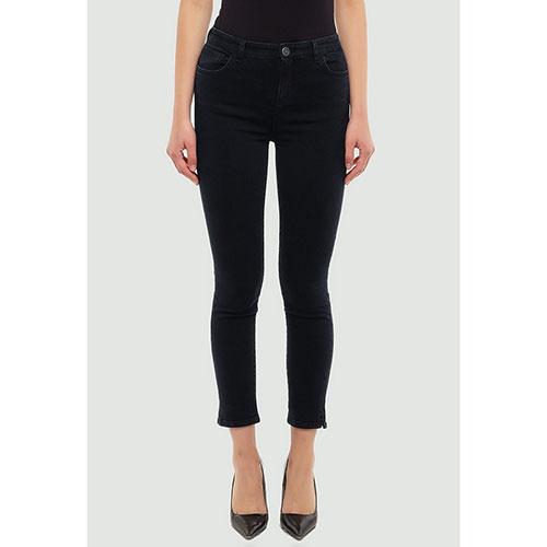 Укороченные джинсы Twin-Set черного цвета, фото