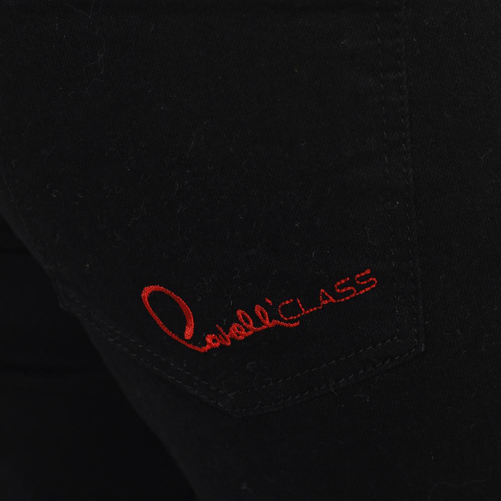 Черные джинсы Cavalli Class с манжетами
