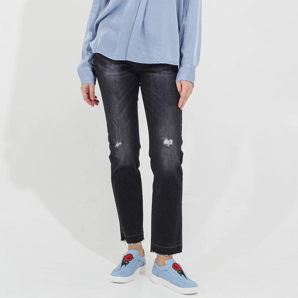 Черные прямые джинсы Guess с прорезами на коленях