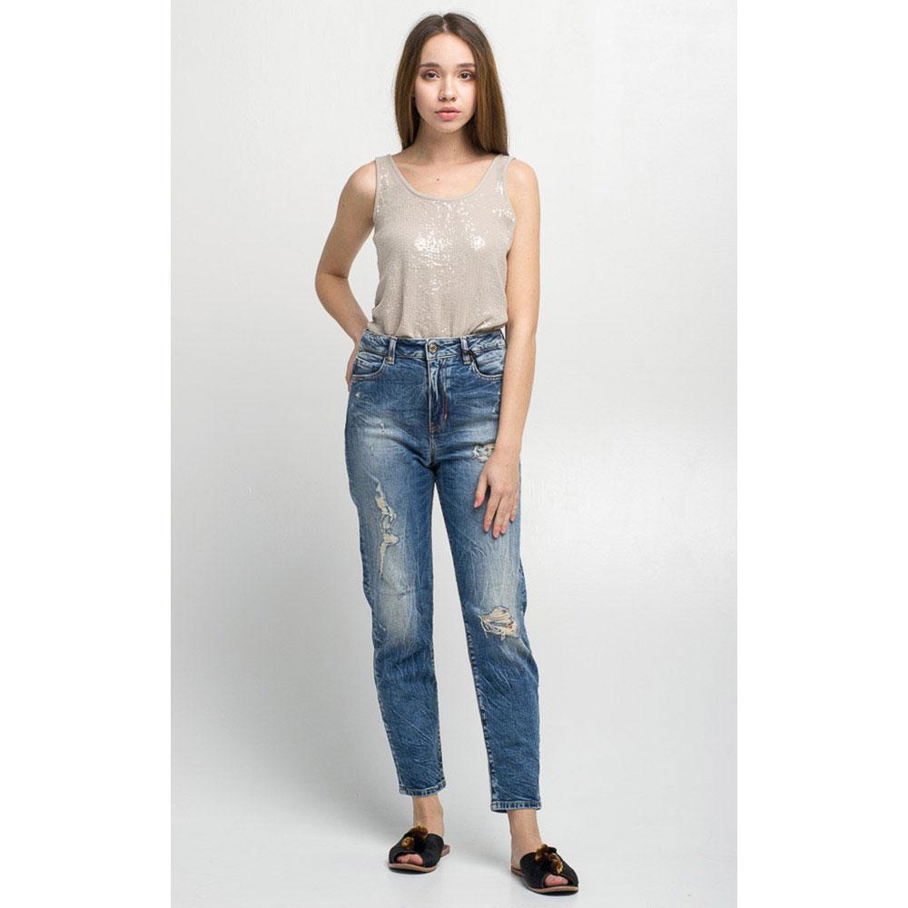 Рваные джинсы Guess с высокой талией