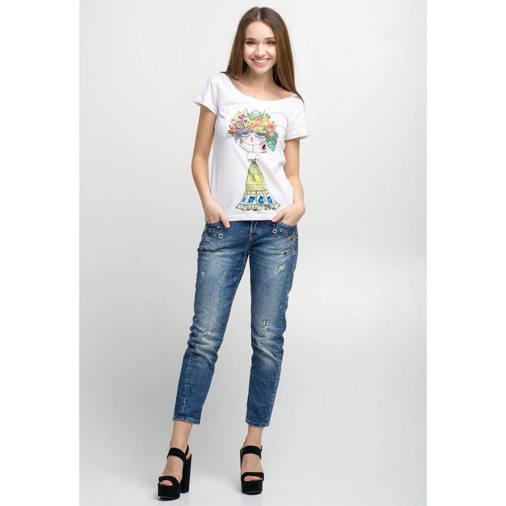 Укороченные джинсы Guess с декором-заклепками