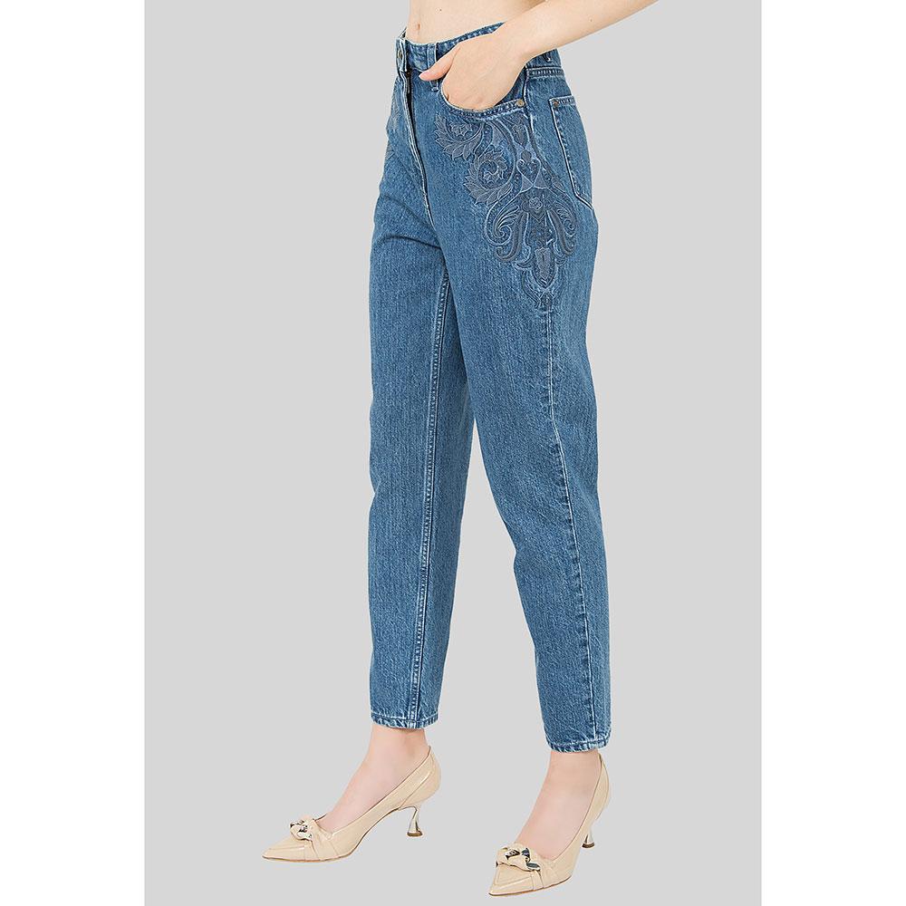 Свободные джинсы Etro с вышивкой