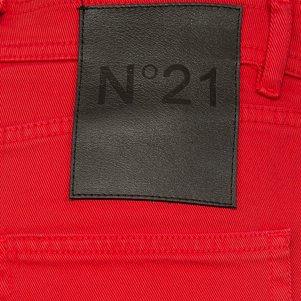 Красные джинсы N21 прямого кроя