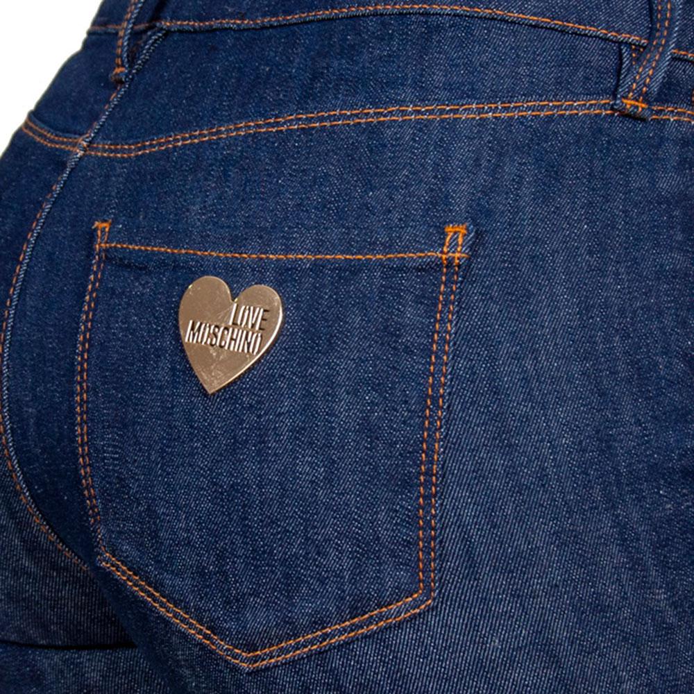 Зауженные джинсы Love Moschino в синем цвете