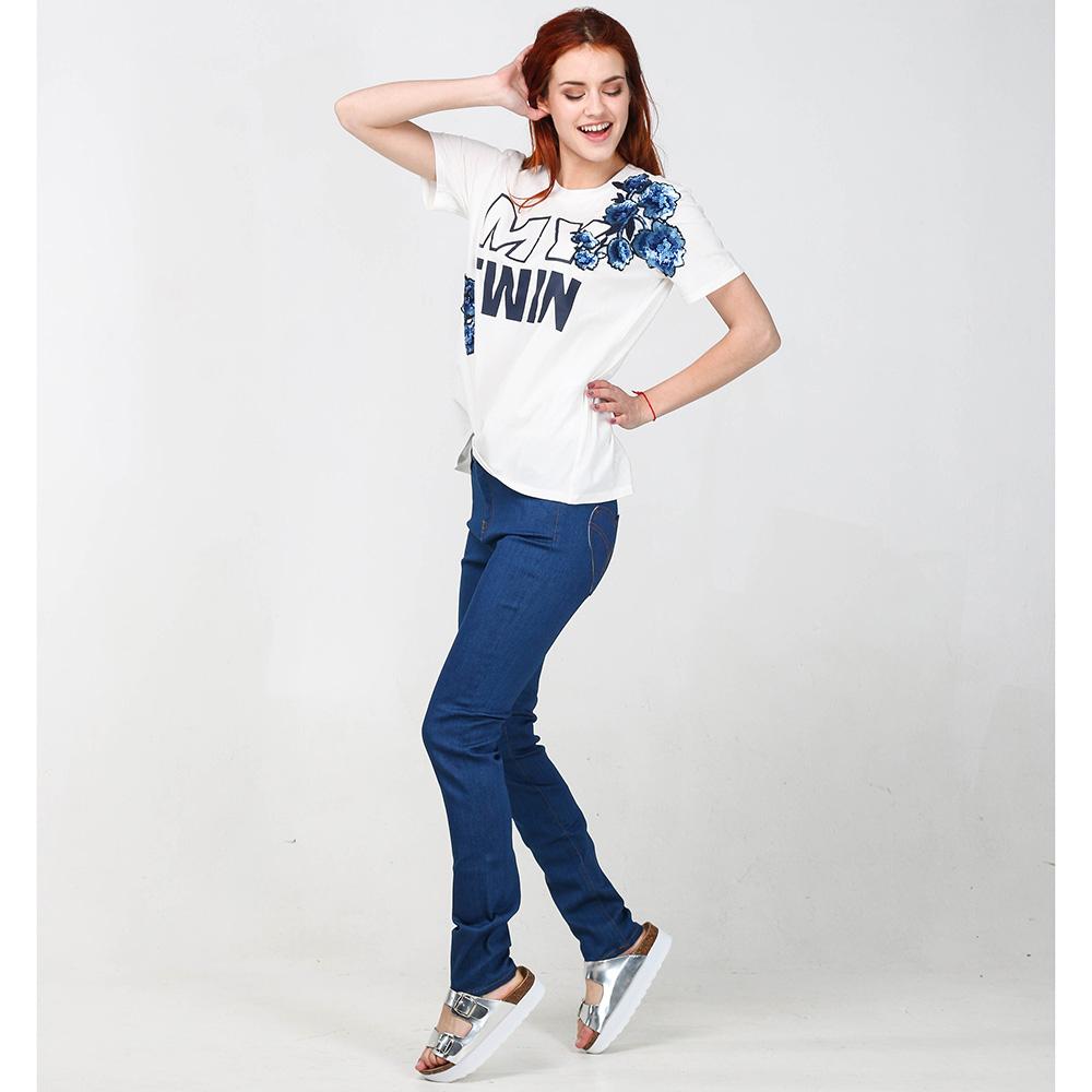 Джинсы-скинни Love Moschino синего цвета