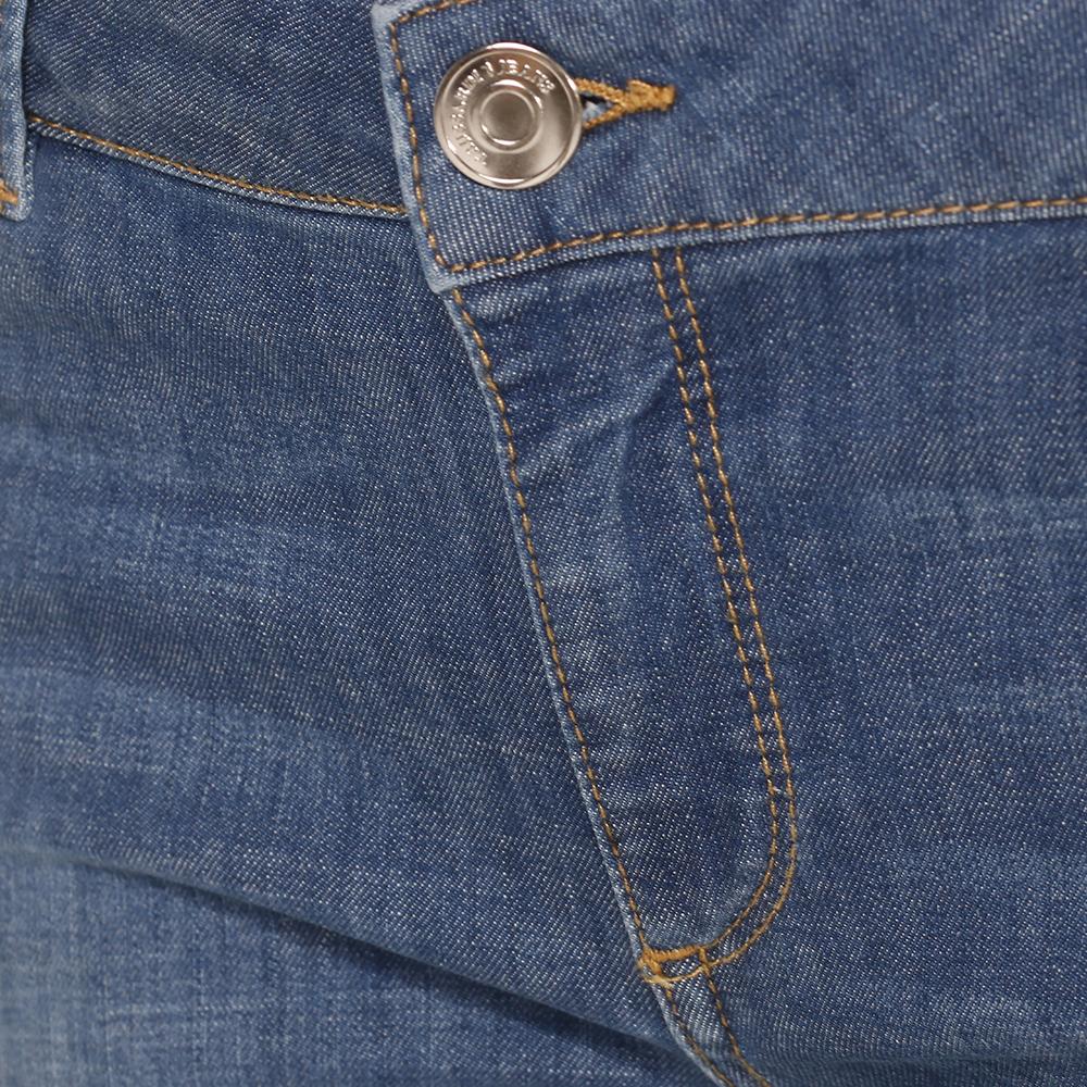 Джинсы укороченные Trussardi Jeans голубого цвета