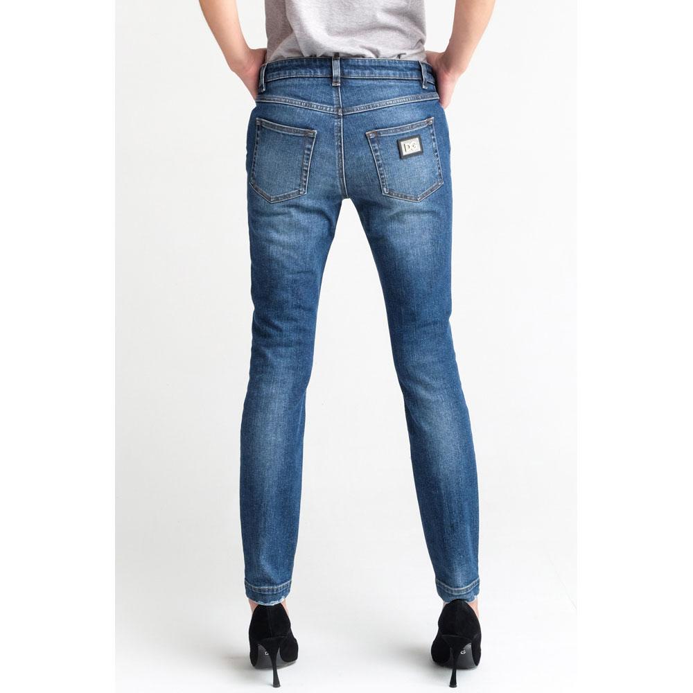 Зауженные джинсы Dolce&Gabbana в синем цвете