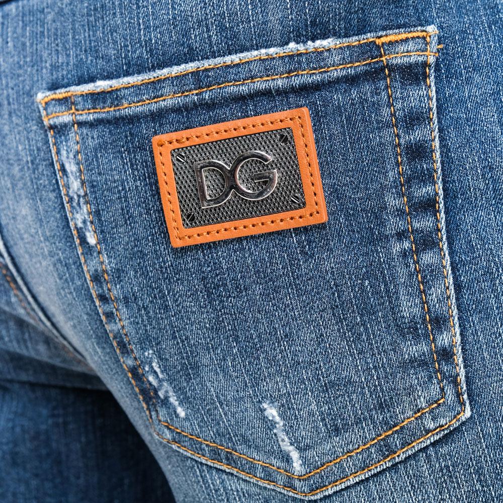 Джинсы-скинни Dolce&Gabbana синего цвета