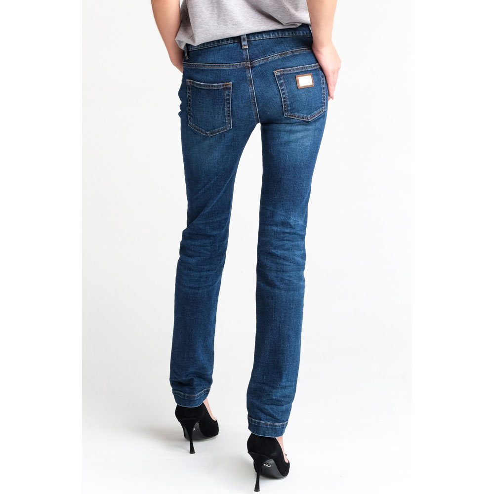Прямые джинсы Dolce&Gabbana синего цвета