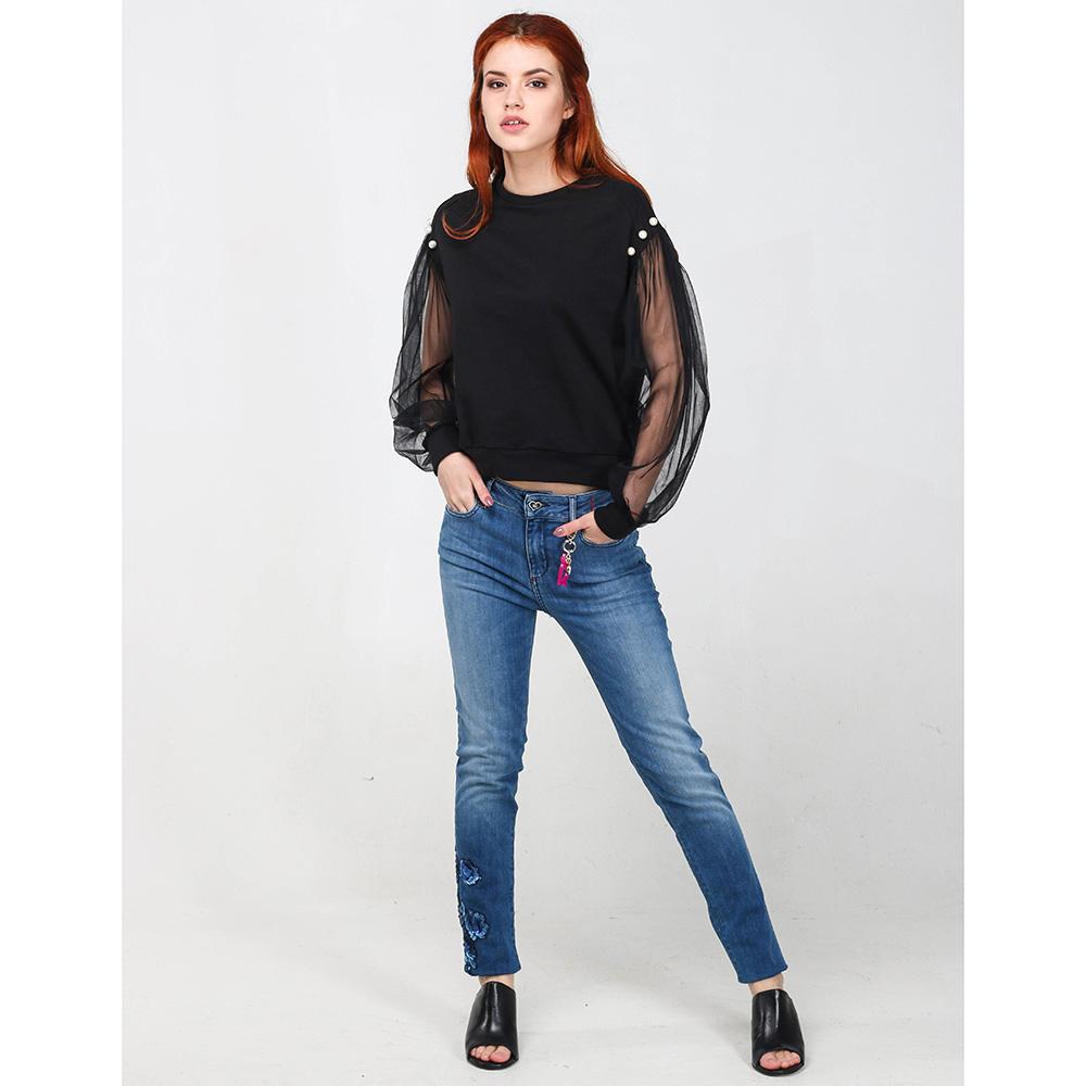 Зауженные джинсы Twin-Set синего цвета
