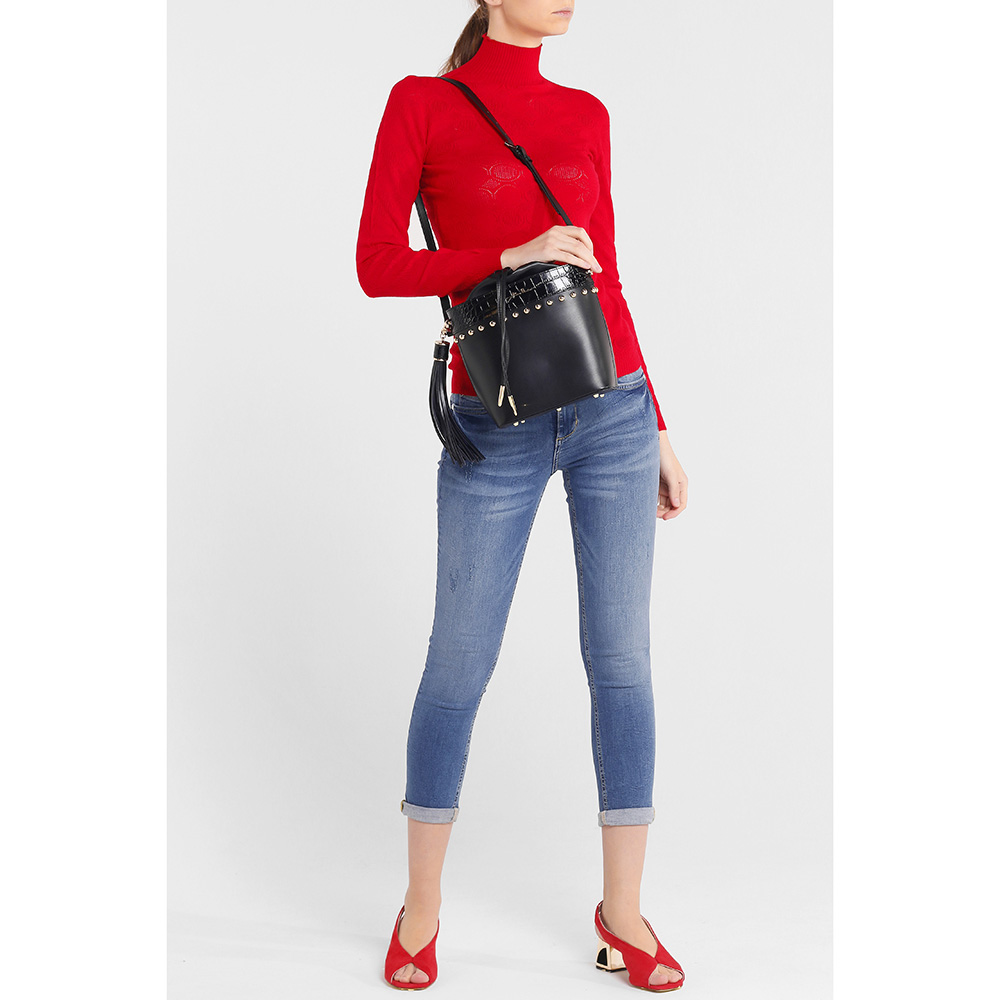 Укороченные джинсы Liu Jo синего цвета