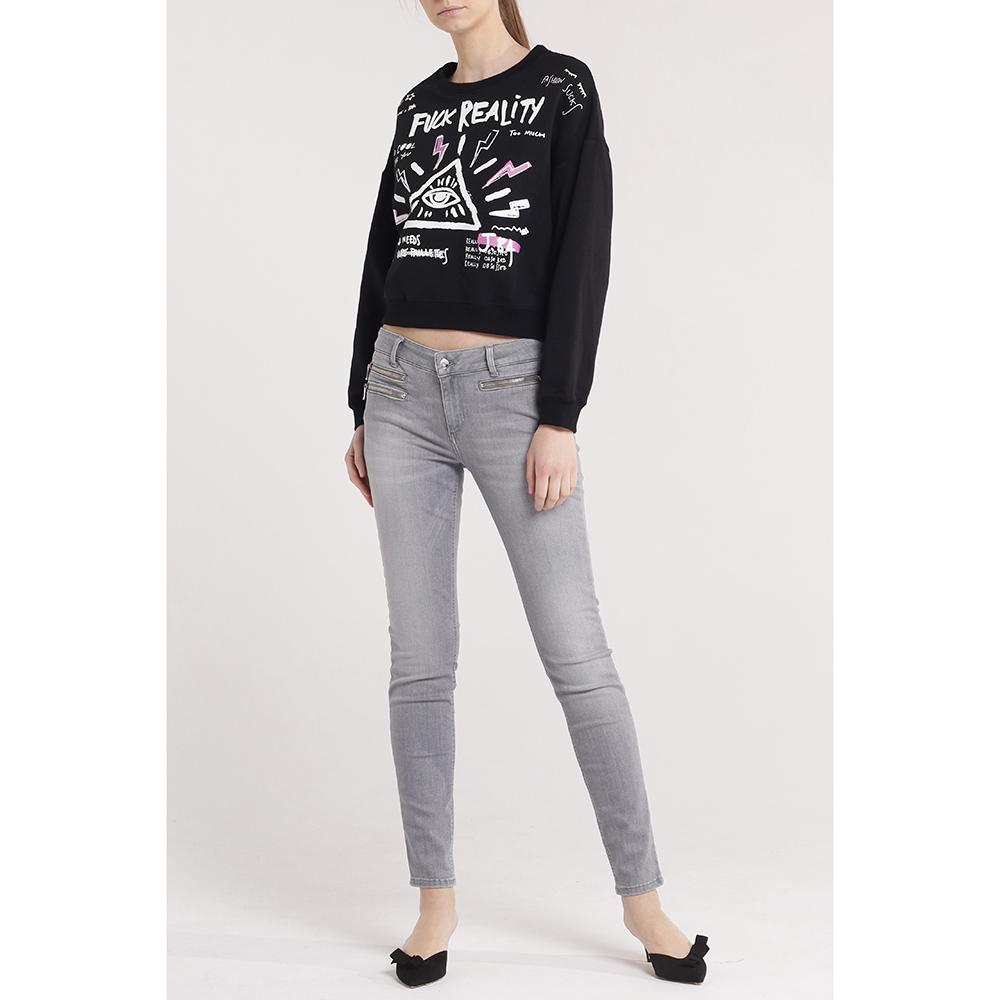 Зауженные джинсы Liu Jo с серого цвета