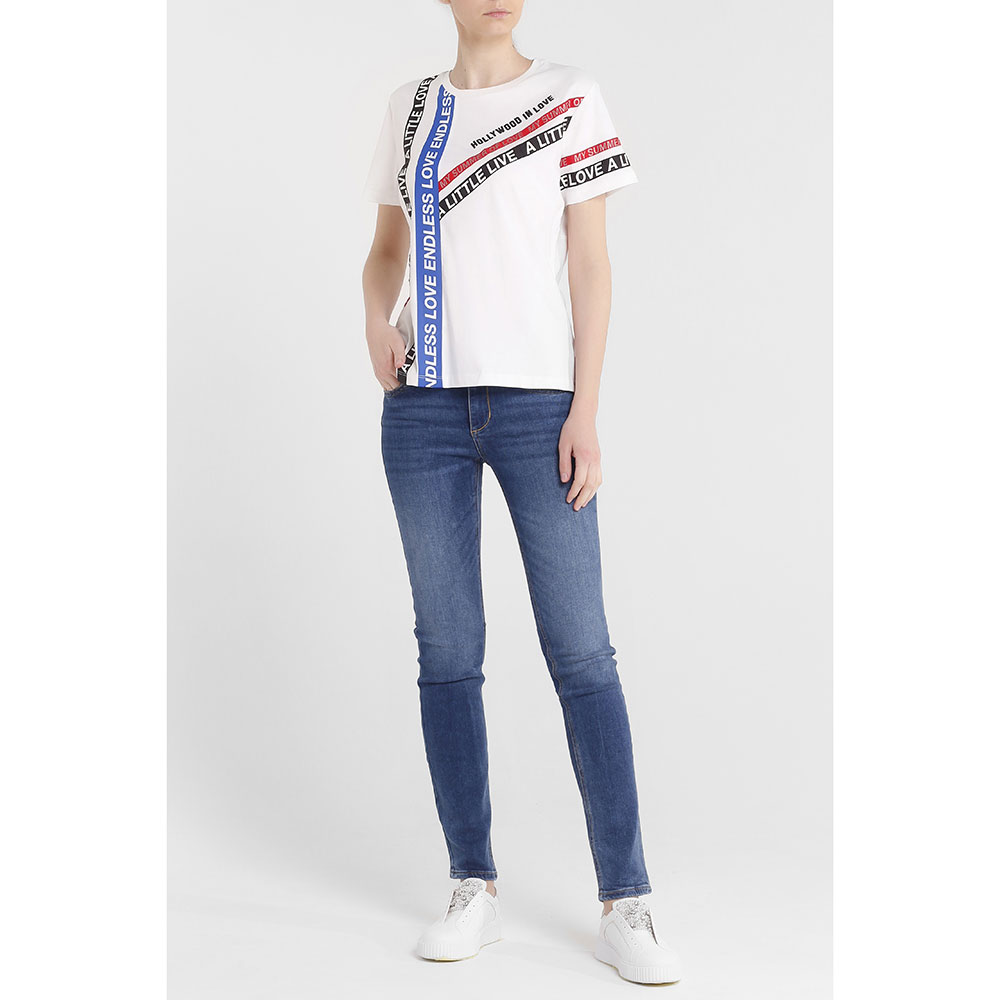 Прямые джинсы Liu Jo синего цвета