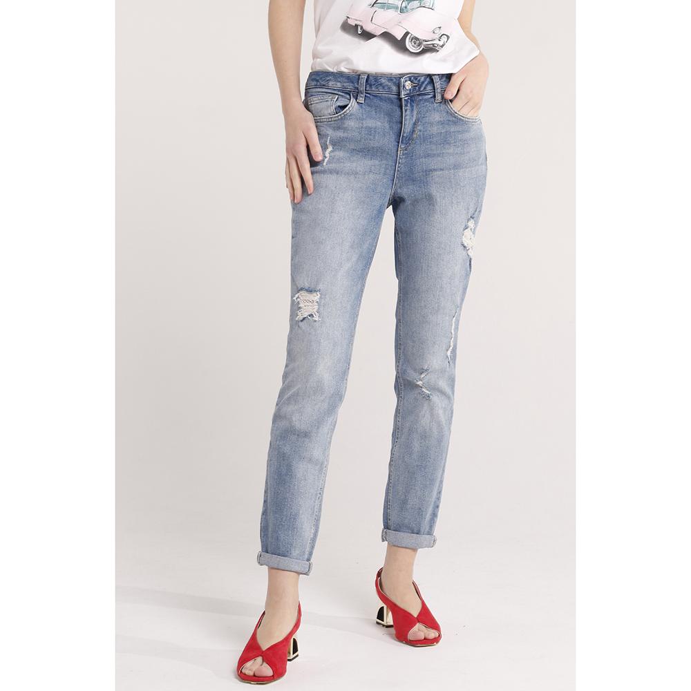 Голубые джинсы Liu Jo рваные