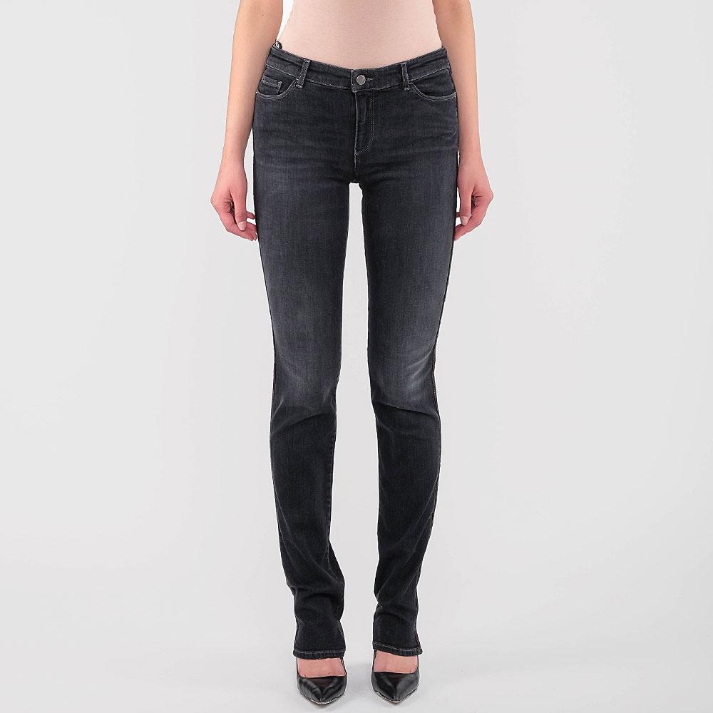 Черные джинсы Emporio Armani с красной строчкой