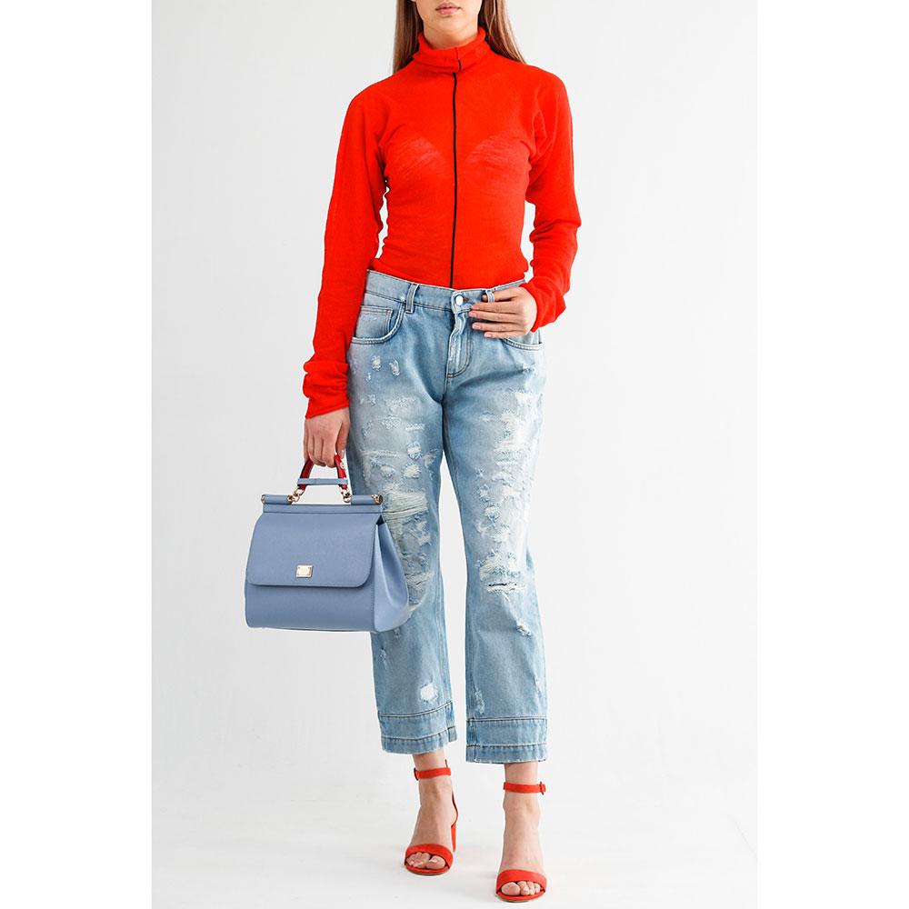 Укороченные джинсы Dolce&Gabbana прямого кроя
