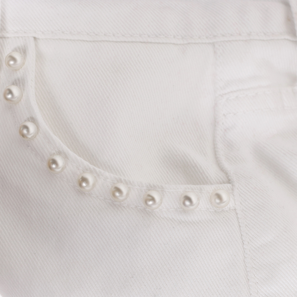 Белые шорты J.B4 Just Before на пуговицах