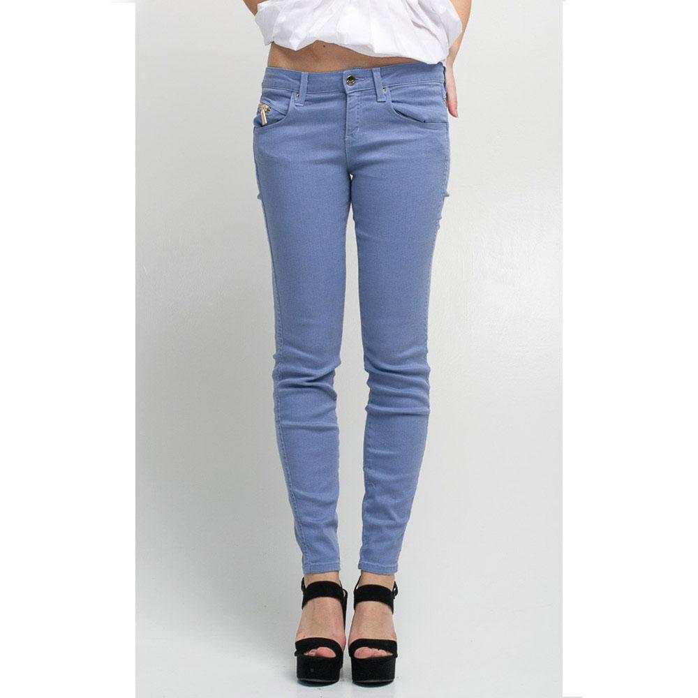 Легкие джинсы Kaos Jeans голубого цвета