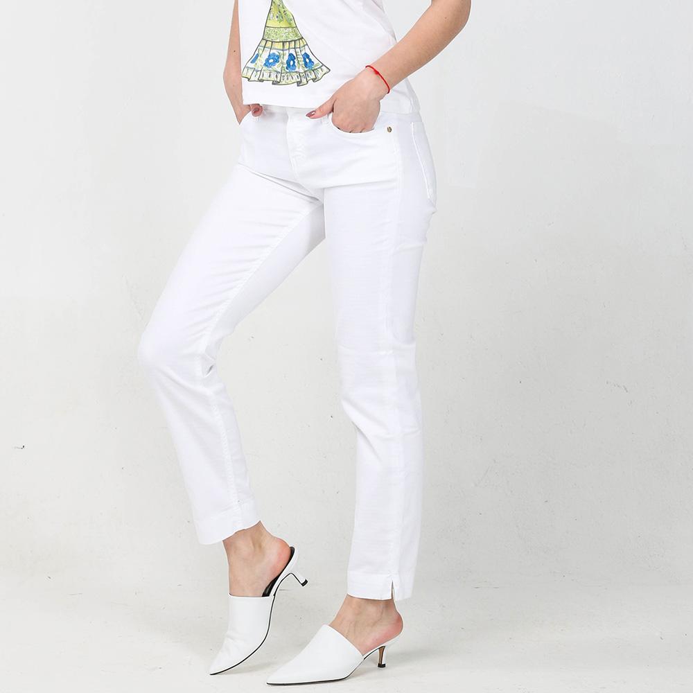Зауженные джинсы Kaos белого цвета