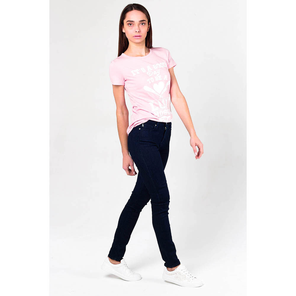 Узкие джинсы Love Moschino синего цвета