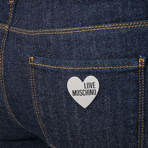 Синие джинсы Love Moschino с металлическим декором