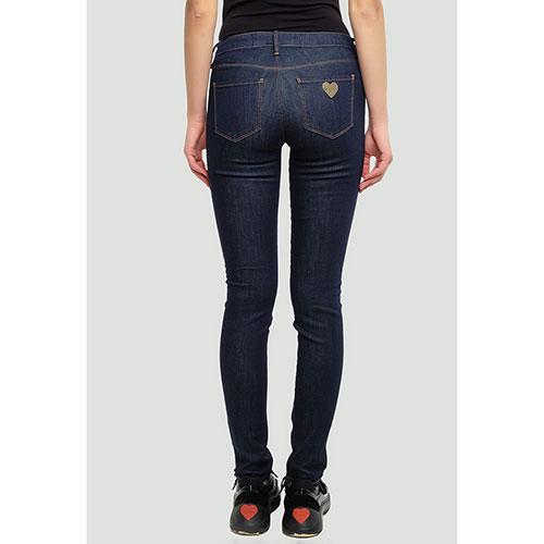 Зауженные джинсы Love Moschino темно-синие
