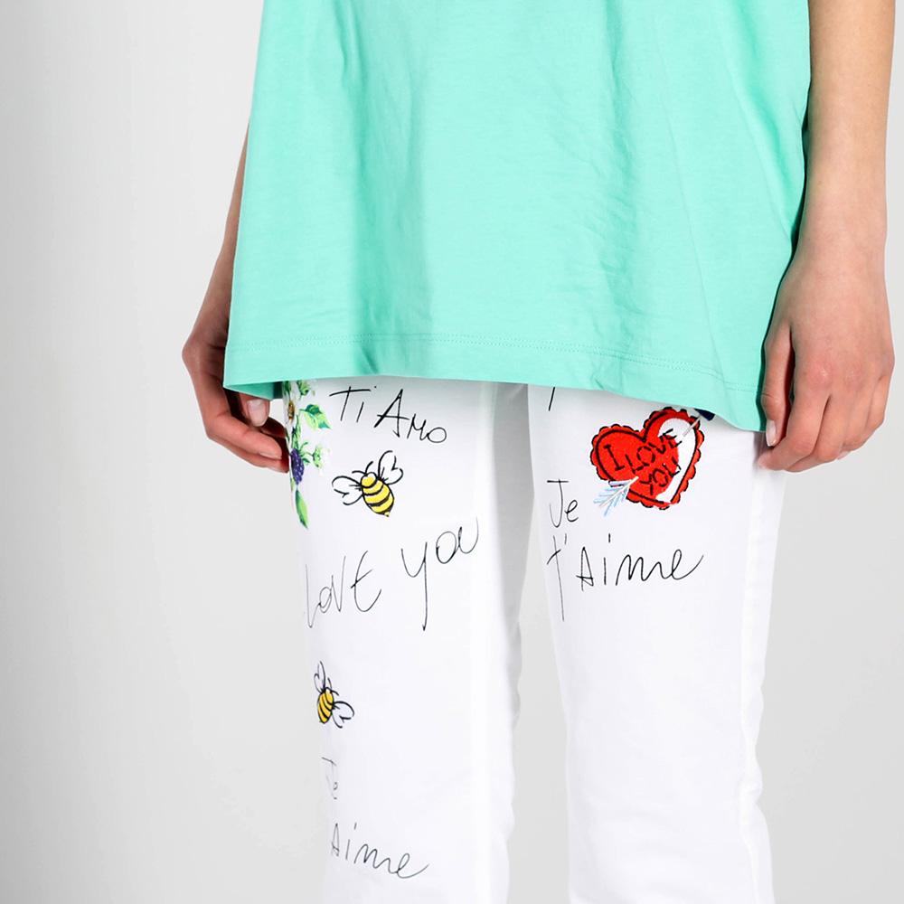 Белые джинсы Love Moschino из тонкого коттона
